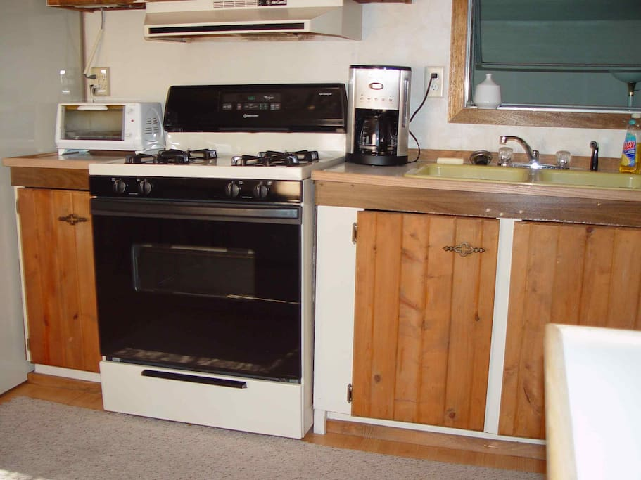 Gas stove, toaster oven
