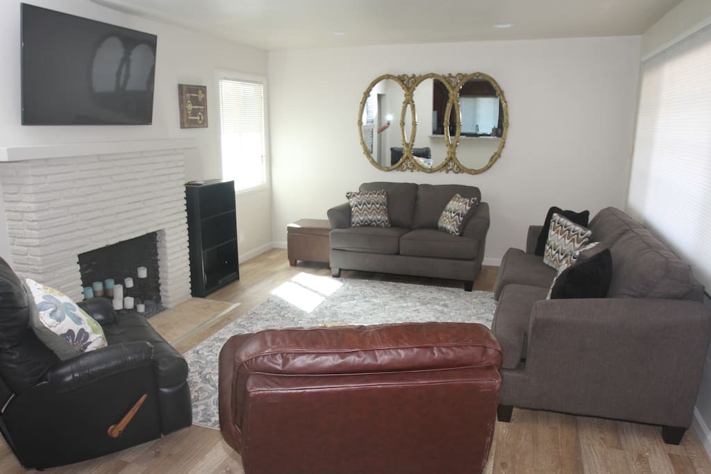 Freshly remodeled and furnished.  Wall-mounted flat screens in living room and all bedrooms.