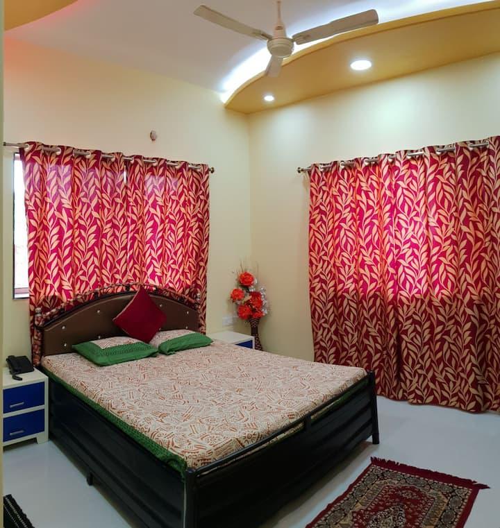 Parijat Resort Bedroom-1