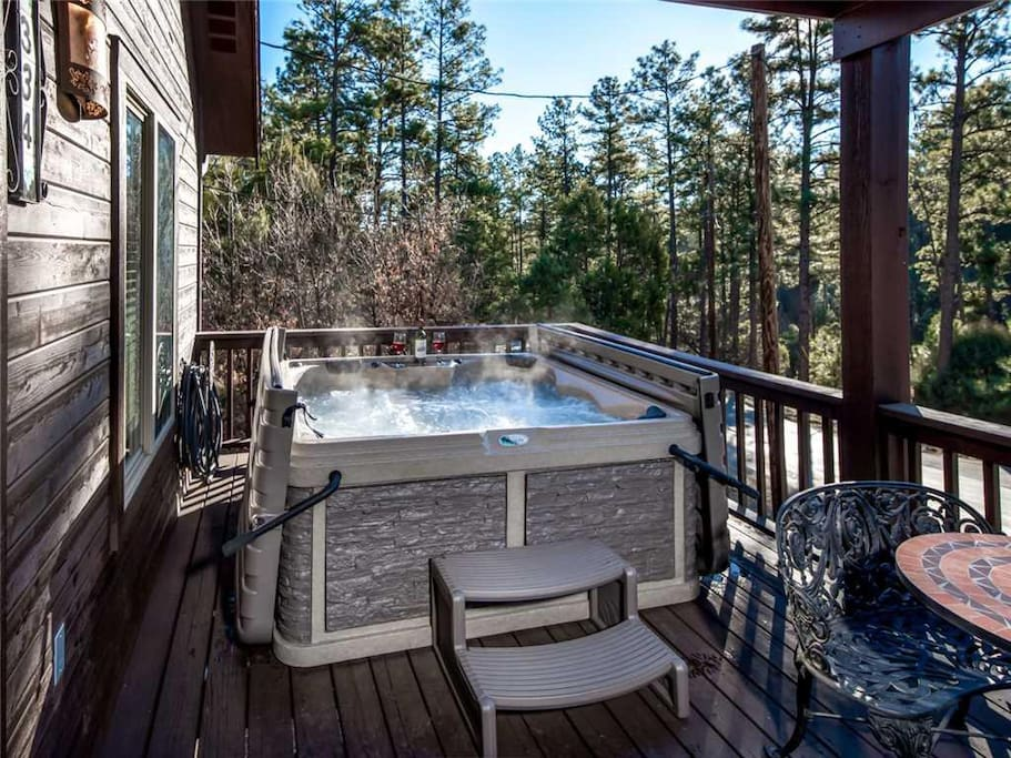 End your day with a relaxing soak in the hot tub. The soothing waters will put you at ease after a long, hard day of vacation fun