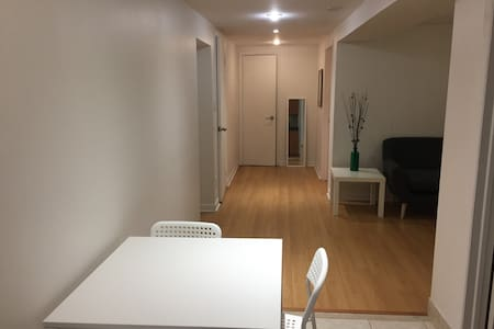 Cozy and clean apt (basement). Min 30 days stay