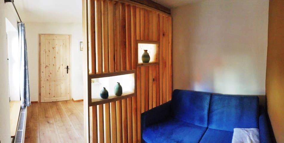 Schlazimmer 2 mit ausziehbarer komfortabler Schlafcouch (140x200)