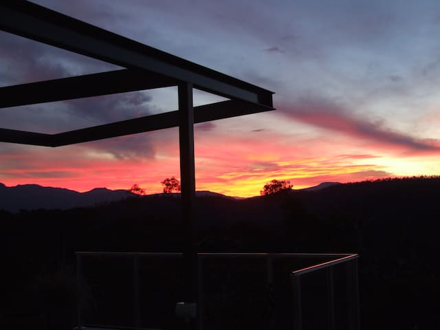 Beautiful sunsets over Mt Wellington