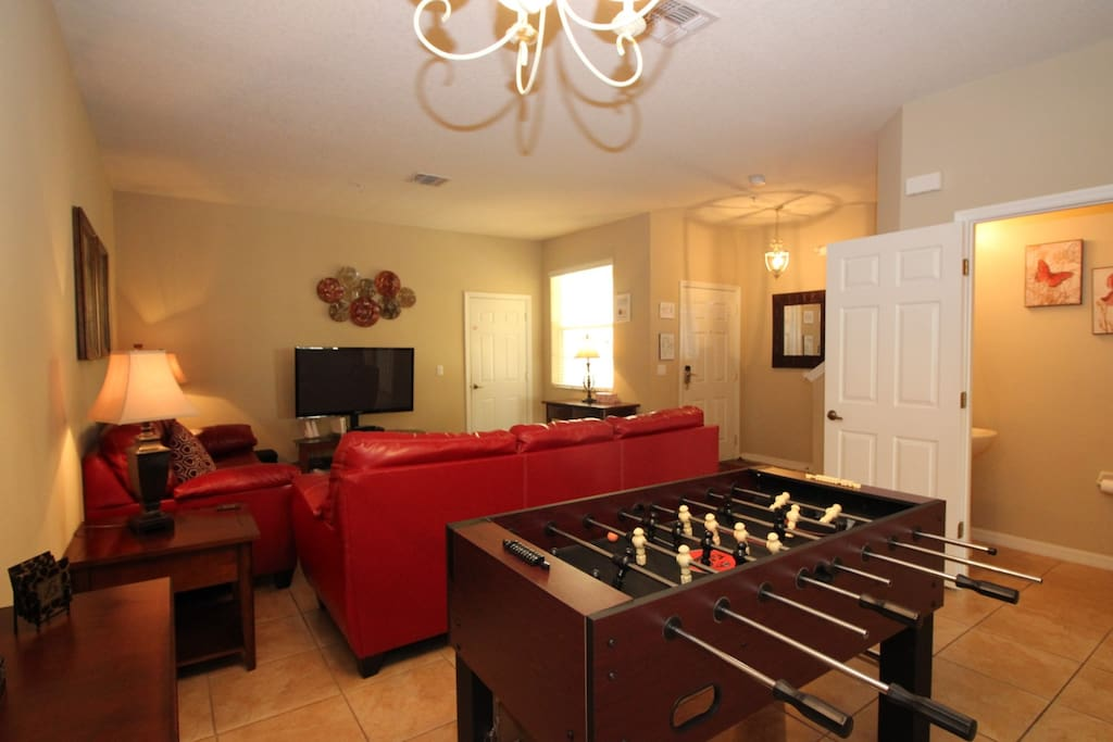 Foosball and living room