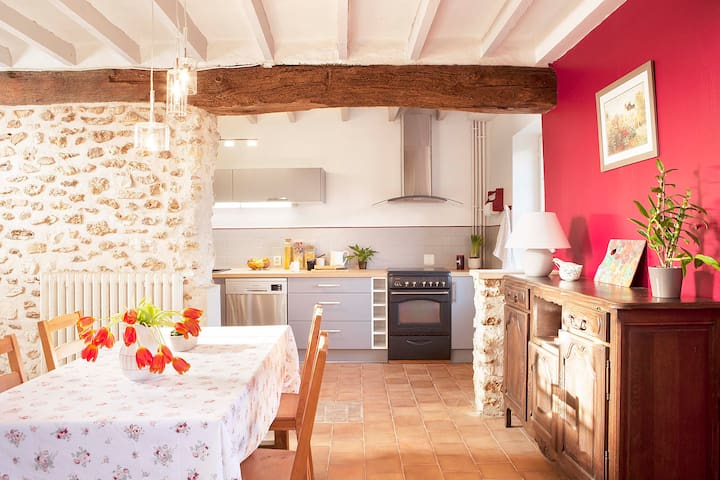 Charming cottage near Giverny - Blaru - Casa de vacances