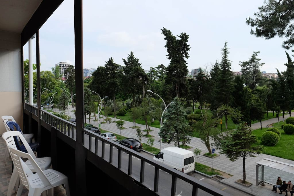 View to 6 may park from the balcony
