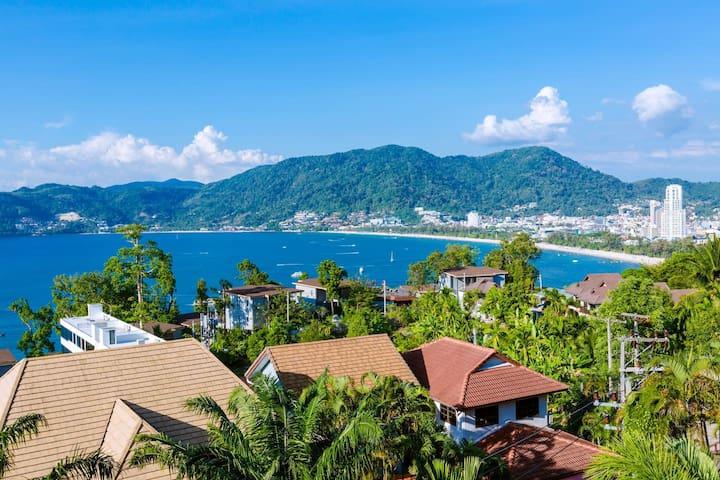 Patong Indigo cozy villa super 270-degree sea view
