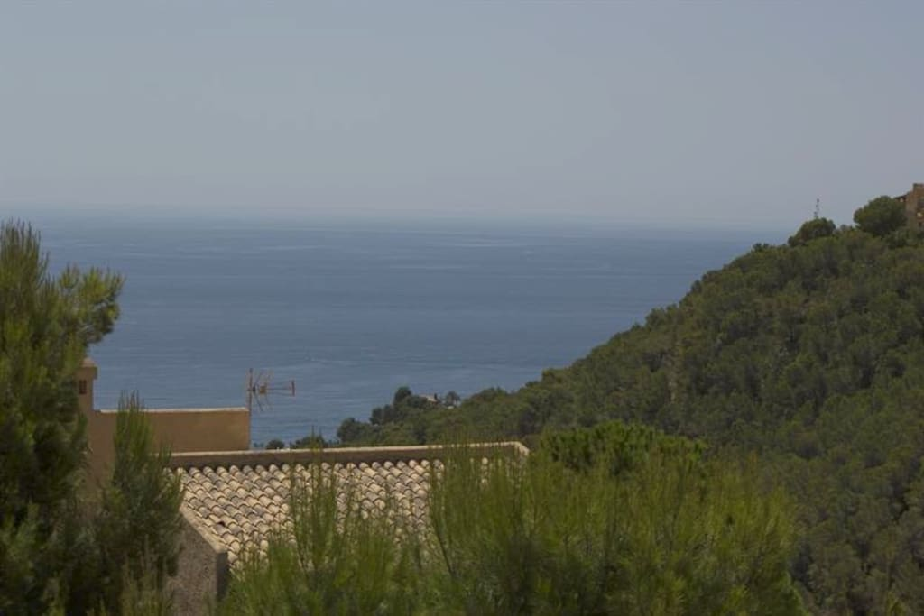 View from the house to the mediteranean sea