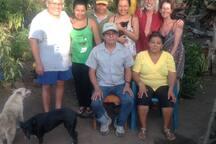 ''Finca Don Mincho' family w/special friends Reg & Julia...