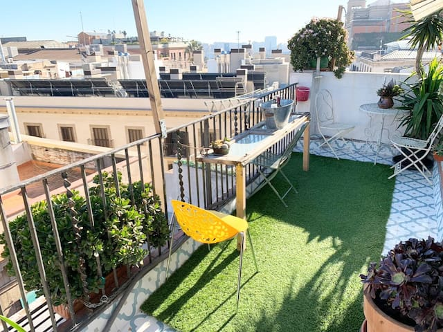 RAMBLAS [ROOM 4-PAX] in terrace apartment
