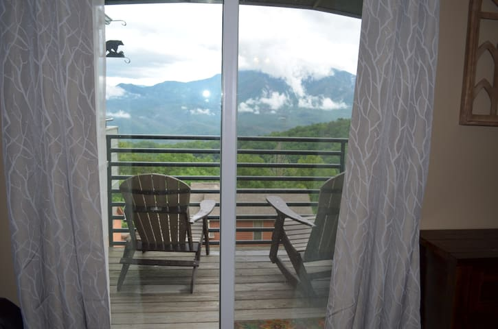 Balcony with new Adirondack rocker & chair