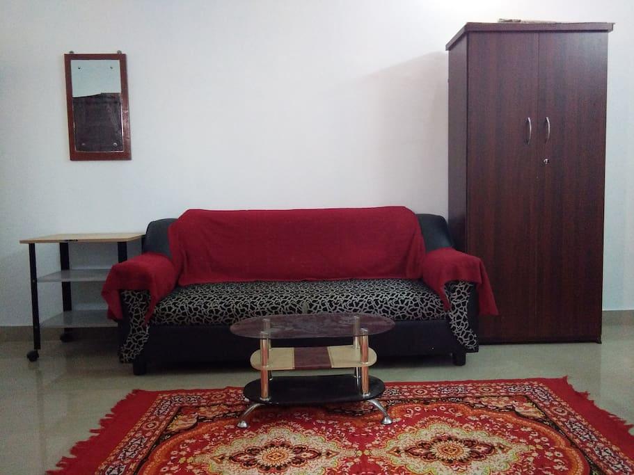 Hall with Sofa, & carpet & additional wardrobe