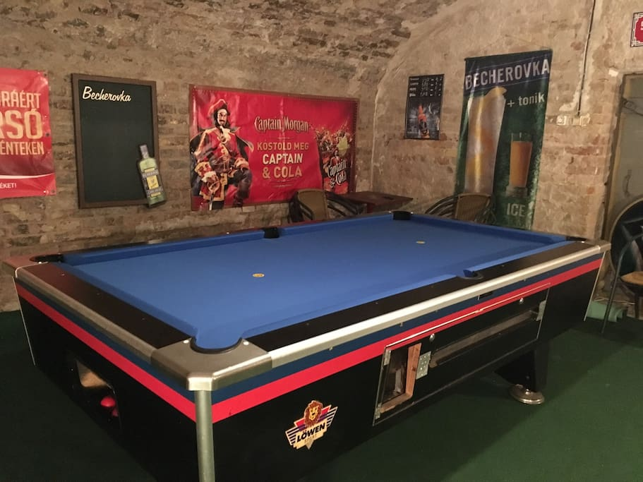 Pool billiard room (please do not drink on it, newly carpeted ;)