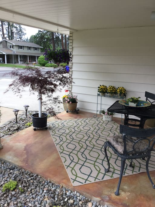 Intimate setting, private front patio.