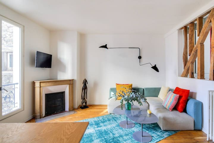 Charming 1 bd flat in the heart of Batignolles