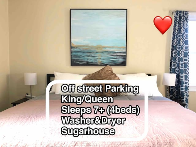 Sugarhouse (Prime Location)  3500+ Review Host!