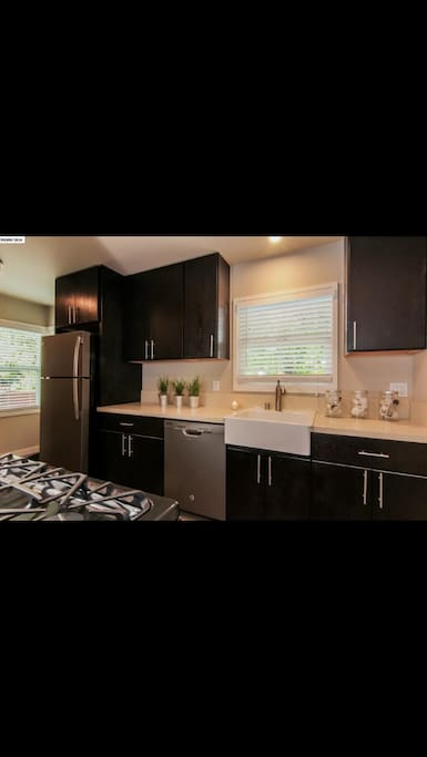 Updated kitchen with new amenities.