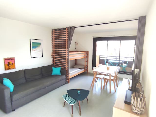Studio 30m2 100m from Seignosse beach - WIFI