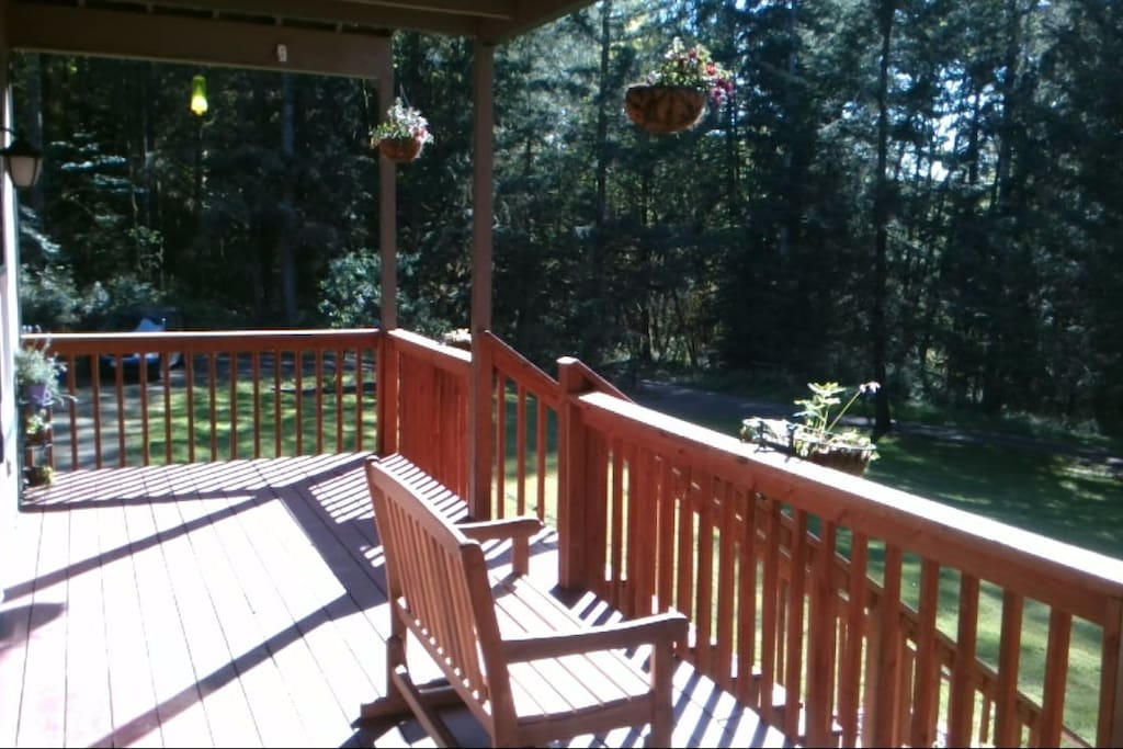 View from the main floor porch