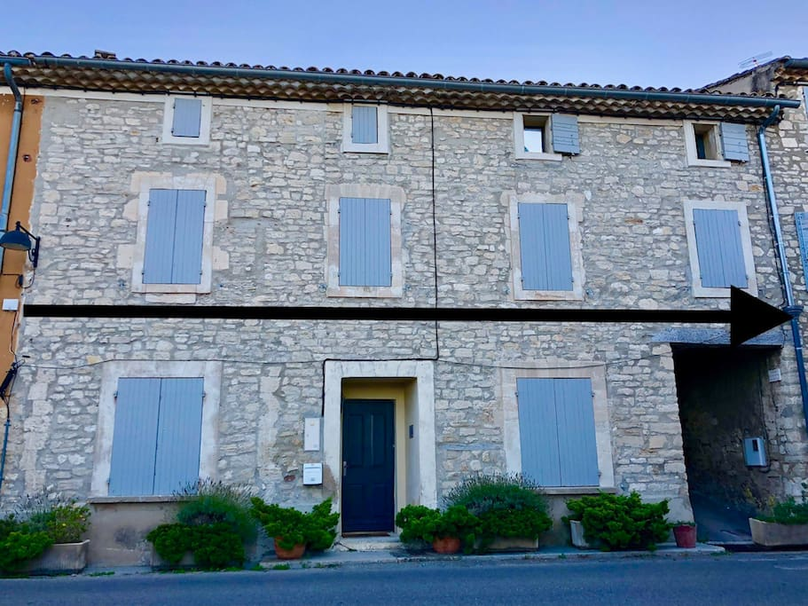La Mursoise - A Gorgeous Village House (the property is the width of the arrow)
