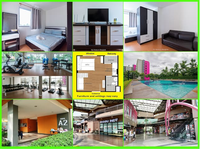 "Family Apartment ""My Home In Bangkok"" B7/326"