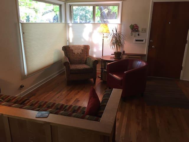 living room; facing front door