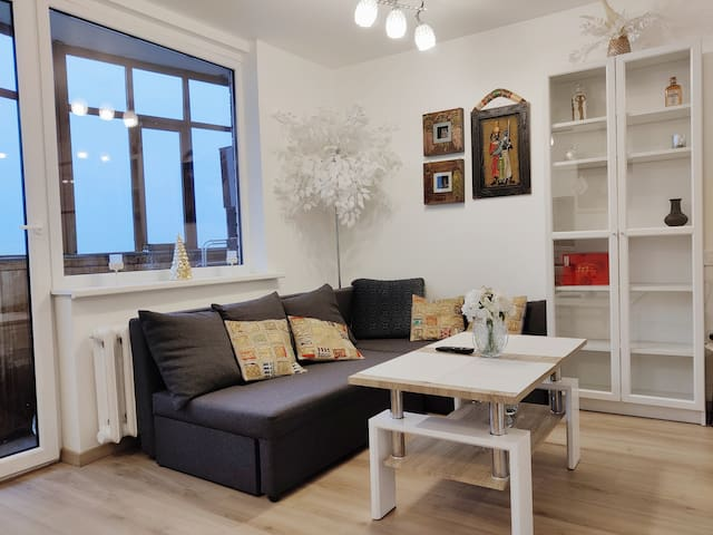 City center apartment with a view