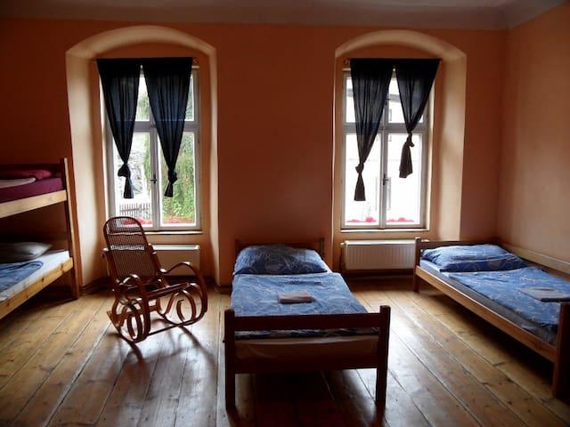 Rodinný pokoj v Lazy River hostelu