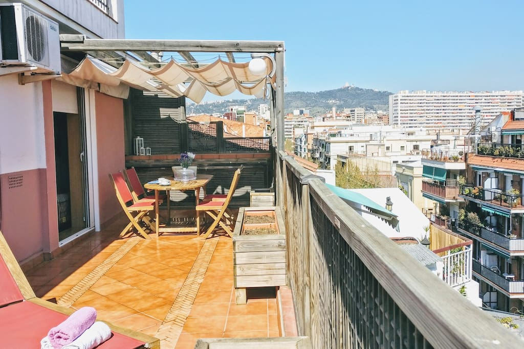 35 m2 sunny private terrace