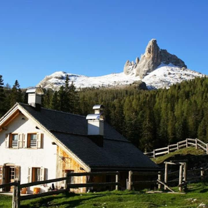 Malga Federa, mountain hut- in the Dolomites heart