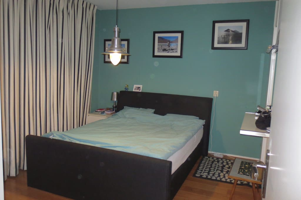 Bedroom accommodated with comfortable big bed