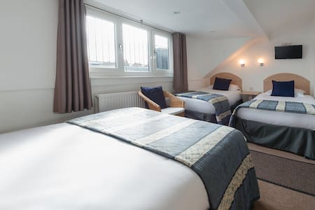 Full size single beds with soft, very comfortable bedding.