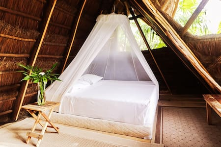 6- Attic Palapa EcoCabin Among Nature On BeachRoad