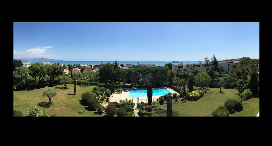 Apartment 1 bedroom panoramic sea view pool tennis - Antibes