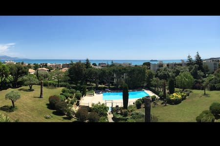 Apartment 1 bedroom panoramic sea view pool tennis - Antibes - Apartment