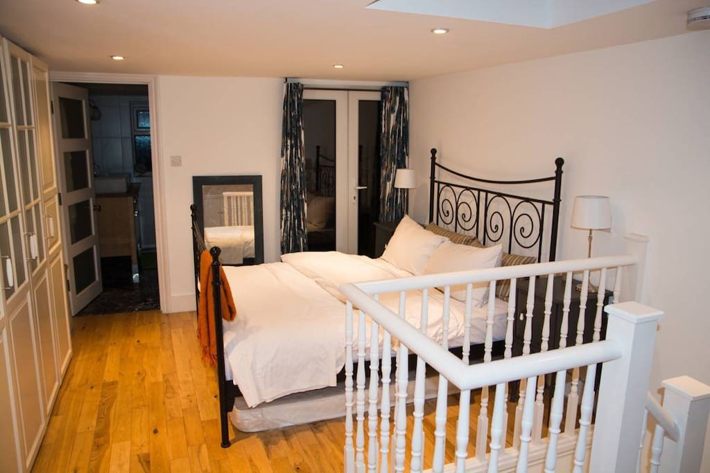 Master bedroom on second floor with en-suite bathroom