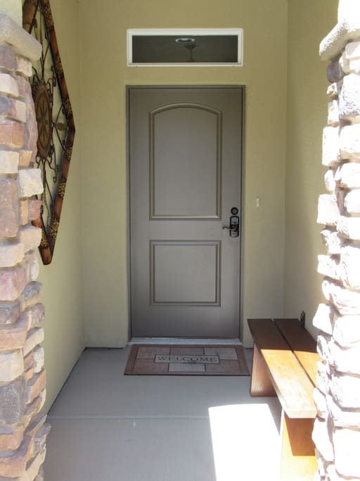 Private Entrance into Townhouse