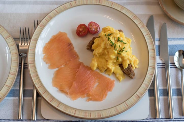 Smoked Salmon and Scrambled eggs option - when breakfast ordered as an extra
