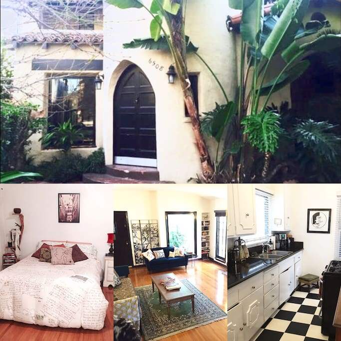 Collage of beautiful 20's style Spanish home.