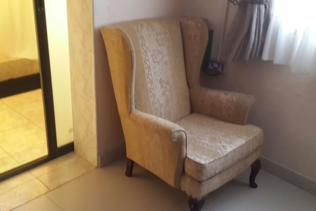 Executive chair in the bedroom