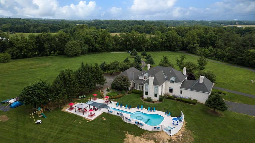 Your Amazing Mansion 10,000+3K s/f patio 14 acres