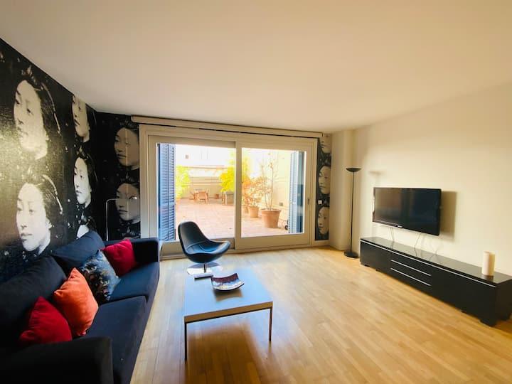 Apartamento con terraza en pleno centro de Girona