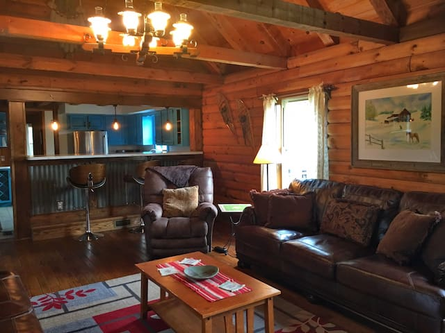 A Perfect Location- Cozy Log Home