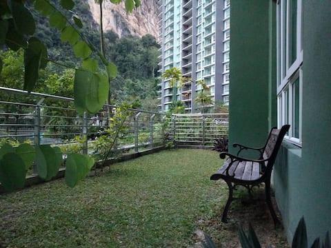 Condo avec jardin privé au Haven Ipoh