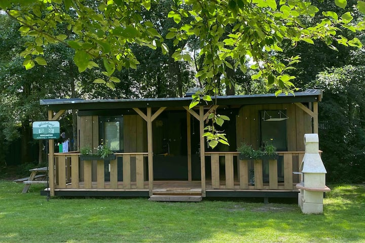 Tiny house met privé sanitair