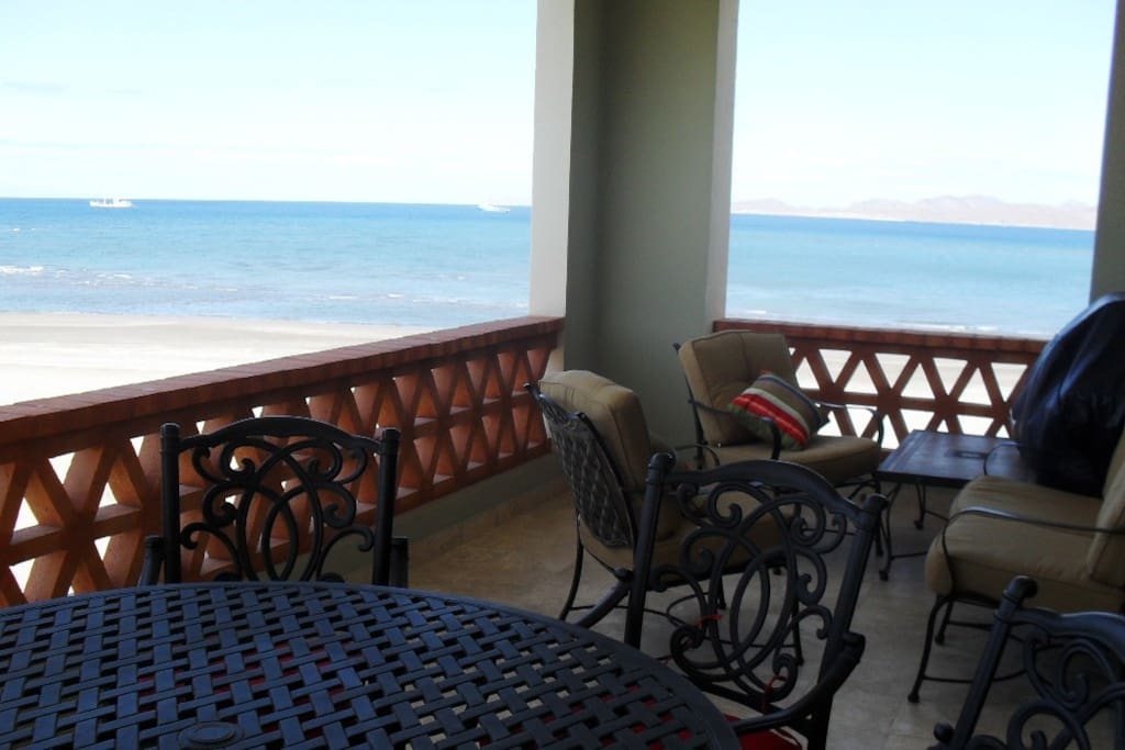 Oceanfront view from Main Balcony and BBQ gas grill