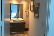 Bathroom entry from bedroom