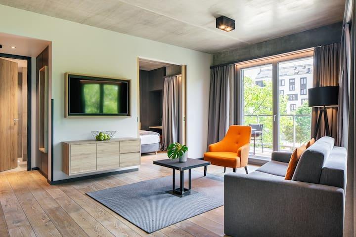"2-Raum Apartment ""Bright Outlook"", 49 qm"