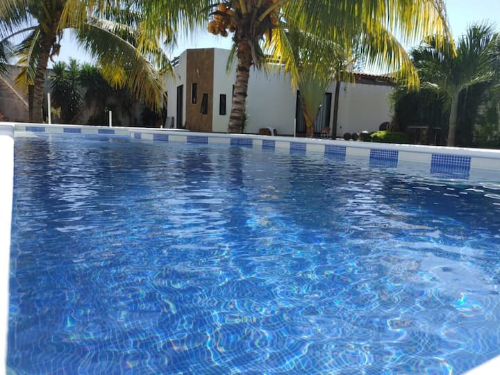 House with private pool 5min from the beach *