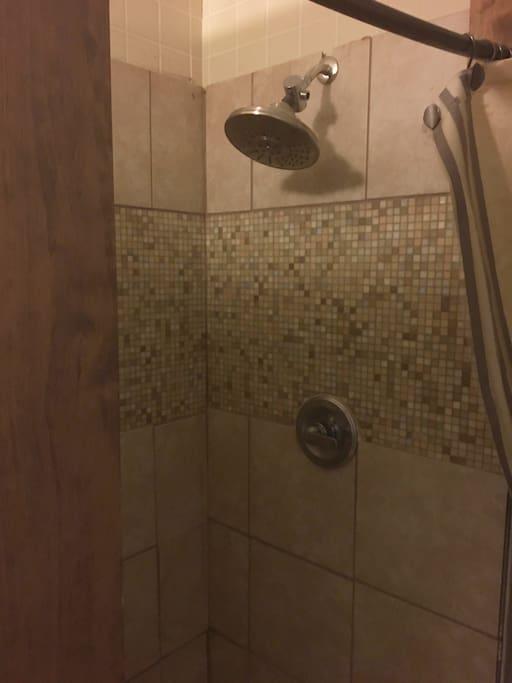 Shower in Airbnb bedroom